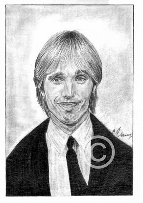 Tom Petty Pencil Portrait