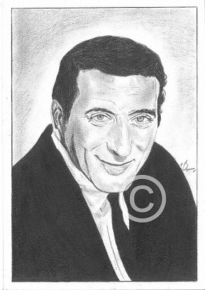 Tony Bennett Pencil Portrait