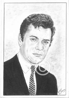 Tony Curtis Pencil Portrait