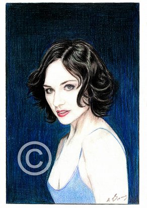 Tuppence Middleton Pencil Portrait