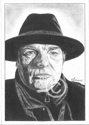 Van Morrison Pencil Portrait