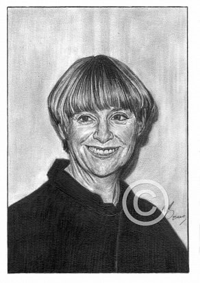 Victoria Wood Pencil Portrait