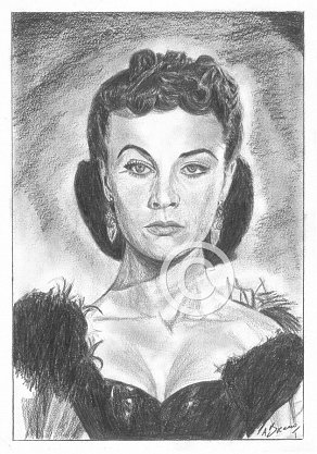 Vivien Leigh Pencil Portrait