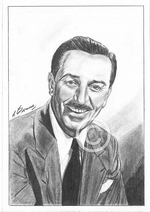 Walt Disney Pencil Portrait