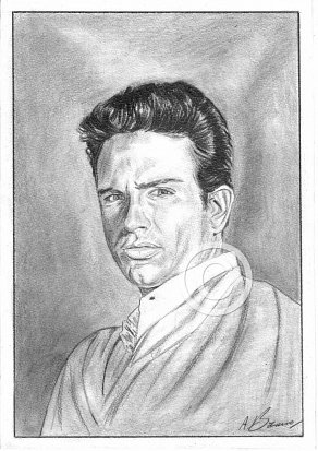 Warren Beatty Pencil Portrait