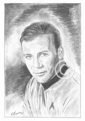 William Shatner Pencil Portrait