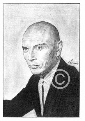 Yul Brynner Pencil Portrait