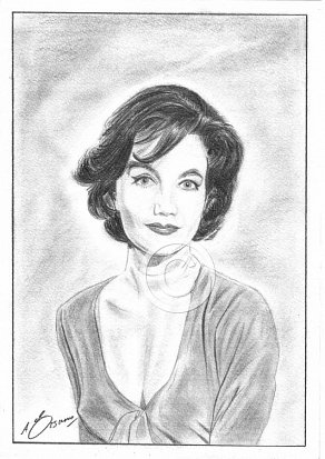 Zena Marshall Pencil Portrait